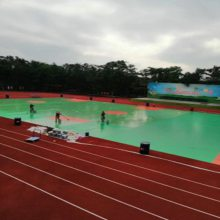 深圳游乐场运动跑道价格优惠 奥博混合型运动跑道厂价直销