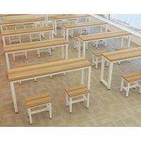 现代简约多功能职员培训桌 板式学生桌图书馆看书桌椅组合