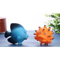 厂家定制环保搪胶玩具 宝宝洗澡小鱼玩具软胶动物模型pvc材质
