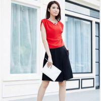 广州18年时尚女装索典尾货 新款夏装折扣批发