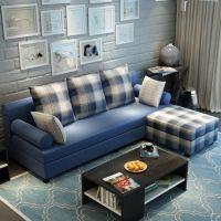 【厂家直供】酷可斯布艺沙发组合转角贵妃可拆洗 现代中小户型客厅家具