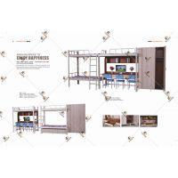 深圳学生公寓床 艾尚家具支持定制生产