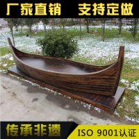 惠州木船厂供应山西户外景观装饰木船手工制作海盗船摆件