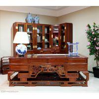 重庆新中式简约书画桌画案画台老榆木办公桌写字台实木仿书法桌子