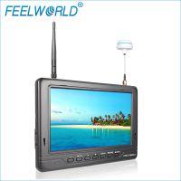 Feelworld 富威德7寸 双通道32频道接收 航拍监视器 内置电池 厂家批发 FPV718B