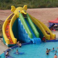 充气水上玩具_水上跷跷板_支架水池水上乐园香蕉迷你翘翘板水上跳床