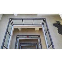 铝合金钢化玻璃护栏栏别墅 铝艺钢化玻璃栏杆庭院栅栏 小区护栏厂