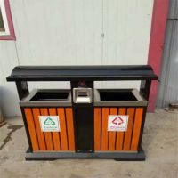 沧州志鹏供应小区户外垃圾桶 欧式别墅垃圾桶 室外钢木垃圾箱 厂家批发