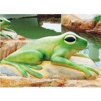 广州润乐水上乐园设备提供戏水小品——喷水青蛙