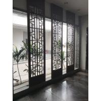 城镇建筑餐厅隔断檀木色铝窗花2018年初低价出售中!