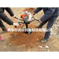 农田打桩用挖坑机 大型钻土地钻机 时产80个坑挖坑机