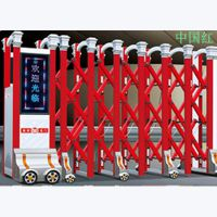 供应东莞万江伸缩门、电动金属拉闸门、工厂大门整套门安装