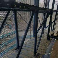 建筑爬架防护圆孔网 蓝色冲孔网 蓝色防护钢板网【至尚】圆孔