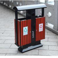 沧州志鹏供应户外垃圾箱 塑木条垃圾箱 环卫分类垃圾箱厂家批发价格合理