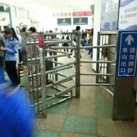 贵州车站进出口人行通道十字转闸价格_手动全高闸远韬直供