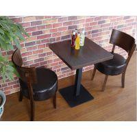 海德利 简约现代 中式实木餐桌椅铁艺餐桌椅组合特价定制快餐桌子复古餐厅家具