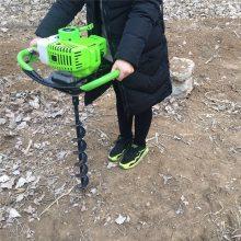 移动方便的框架式果树施肥打眼机 启航栽小树苗用的钻坑机 四轮拖拉机带刨洞机价格