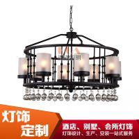 新中式铁艺吊灯--中山酒店灯具供应商9027