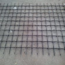 重型轧花网规格 黑钢丝轧花网 矿筛网图片