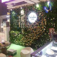 山东实力大厂直销仿真植物墙 仿真花草墙混合搭配造型新颖 塑料绿植墙可上门安装