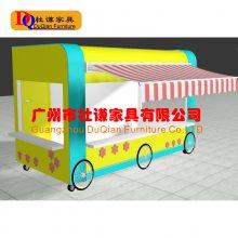江门美陈花车 购物广场 商场实木售货车