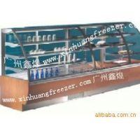 冰友牌厂家供应卧式圆弧玻璃保鲜柜 创业设备