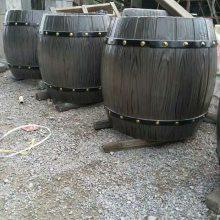 热销环保组合花桶 户外水泥仿木花箱 景区仿木垃圾箱
