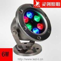 湖北武汉外控LED水底灯厂家 工程品质 双重防水质量有保障-灵创照明