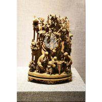 通雕木雕雕刻工艺 广东原著雕塑厂家人物山水木雕 艺术陈列精品