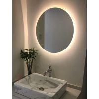 斜边浴室镜简约壁挂无框洗手间镜卫生间厕所镜子定制卫浴镜贴墙
