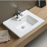 厂家直销陶瓷方形洗面盆单孔龙头开孔简约艺术风格TB-1027