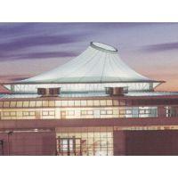 休闲凉亭通道膜结构充气膜体育场设施PVDF别墅屋顶遮阳棚