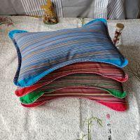 全棉老粗布蝴蝶枕荞麦壳填充 枕套可拆洗枕头护颈枕成人枕头