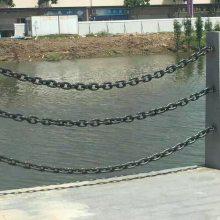 大量现货高质量镀锌护栏链条、防护铁链、围栏链条、包塑链全自动焊接3mm-38mm鲁兴制造