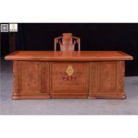 如金红木办公桌-古典仿古书桌-红木书桌