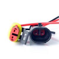 厂家直销2P 尼龙阻燃汽车防水连接器 HID插头插座 车用 接插件 公母连接器