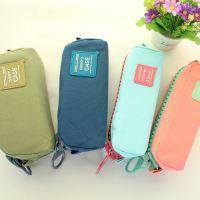 特价工厂批发韩国文具盒大容量创意纯色帆布男学生铅笔盒女生笔袋