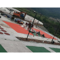 """重庆运动跑道环保型塑胶颗粒HRK-5642""""鸿瑞铠""""牌篮球场塑胶,专业颗粒胶水粘接厚度8mm"""