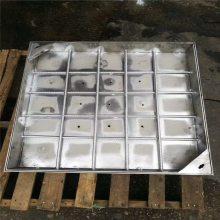 新云 污水雨水电力隐形装饰井盖下水道弱电304不锈钢井盖定制方形盖板