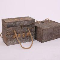 厂家定制 两瓶装木质酒盒 白酒礼盒包装盒 复古白酒木箱
