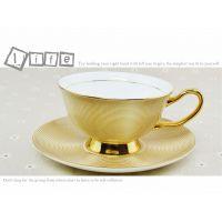 创意 精致 高档 金边咖啡杯碟 套装