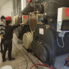 山东富尔达机组进水维修处理,水冷机组进水铜管更换干燥维修