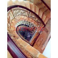 铝艺铜艺酒店大堂楼梯护栏 创新艺术大师设计的护栏