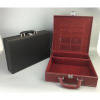 地产交房盒 高档皮质手提钥匙箱 房产资料交接箱