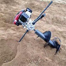 开鲁县水泥电线杆钻坑机 启航牌大棚埋桩打眼机 合金单叶螺旋钻头挖坑机生产厂家