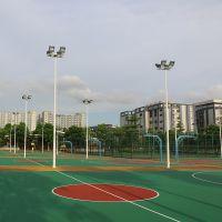 广州篮球场灯杆安装 6-8米现货出售 雅浩LED灯具配件