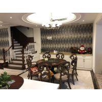 豪华别墅装修案例,龙湖滟澜海岸280平美式装修实景图