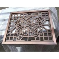 广州德普龙仿古木纹铝合金窗花可订做厂家销售