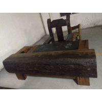 老船木家具天然海螺孔龙骨茶桌椅组合