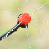 全新料8孔红色滴头 可调流量关闭拆洗 果树盆栽滴灌微喷 滴灌滴头
